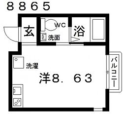 Station Side Takawashi(ステーションサイド高鷲[101号室号室]の間取り