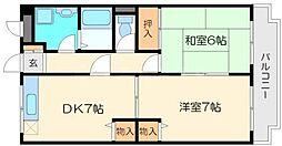 リベルコート[2階]の間取り