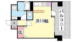 パシフィックレジデンス神戸八幡通[1304号室]の間取り