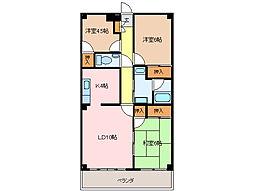 桜マンション[3階]の間取り