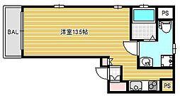 HF東心斎橋レジデンス[2階]の間取り