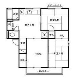 ア−バンライフ赤木[B101号室]の間取り