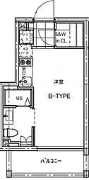 B CITY APARTMENT TACHIKAWA[204号室号室]の間取り
