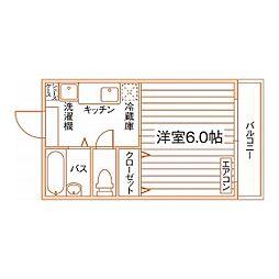 ルーブル折尾[1階]の間取り