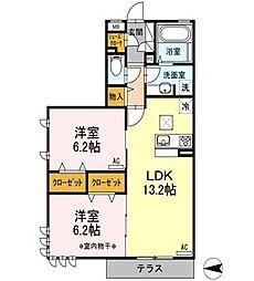 クレスト竹の塚[2階]の間取り