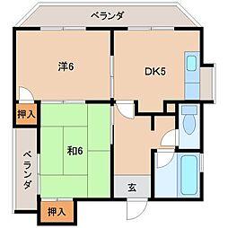 メゾンドモワ[2階]の間取り
