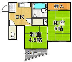 コーポヨジマ[2階]の間取り