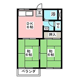 コーポ竹元[2階]の間取り