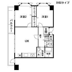宮前平ハイツ[604号室号室]の間取り