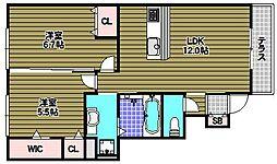 カーサ高善C棟[1階]の間取り