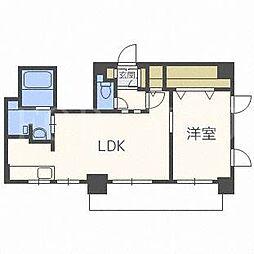 北海道札幌市中央区南十五条西7丁目の賃貸マンションの間取り