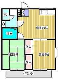デリエール横須賀B棟[1階]の間取り