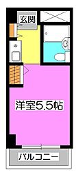 埼玉県狭山市富士見1丁目の賃貸マンションの間取り