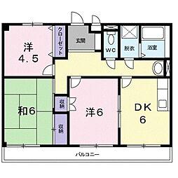 ソルジェンテ金剛[1階]の間取り