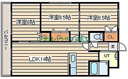 元町ガーデン[3階]の間取り