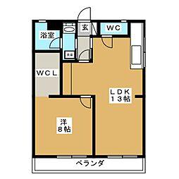 山川ビル[3階]の間取り