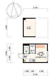 仮)豊島1丁目B計画[102号室]の間取り