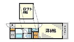 ソリオ武庫川[7階]の間取り