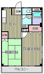 マンション清水坂[4階]の間取り
