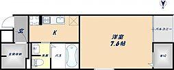 大阪府東大阪市角田2丁目の賃貸アパートの間取り