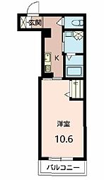 (仮称)池田市シャーメゾン城南3丁目PJ 3階1Kの間取り