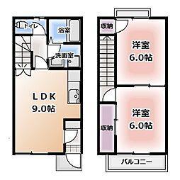 [テラスハウス] 愛知県岩倉市鈴井町 の賃貸【/】の間取り