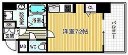 ロイヤルレジデンス北梅田[6階]の間取り