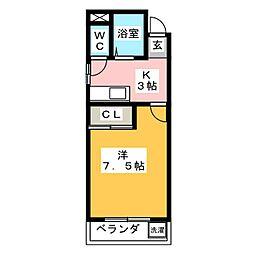 スカイピア・ソロ[4階]の間取り
