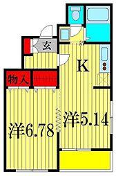 ウィンベルコーラス上本郷2[3階]の間取り