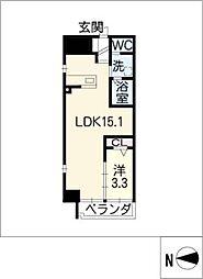 アランヴェール覚王山[5階]の間取り