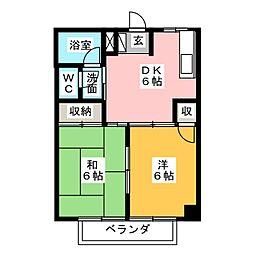 シティハイツ千代田A[2階]の間取り