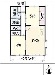VIP IN AVENUE[4階]の間取り