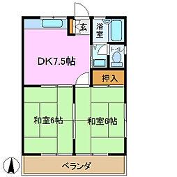 ドミール鴨居[2階]の間取り