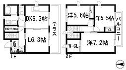 [テラスハウス] 兵庫県宝塚市川面4丁目 の賃貸【/】の間取り