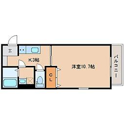 静岡鉄道静岡清水線 新清水駅 徒歩6分の賃貸アパート 1階1Kの間取り