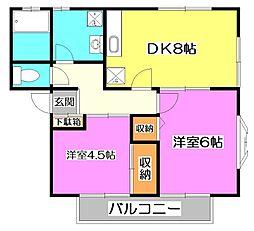 シャルマンB棟[2階]の間取り