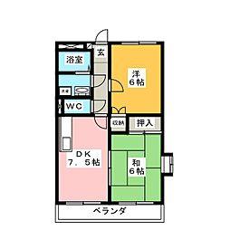 ペガサス緑ヶ丘2号館[3階]の間取り