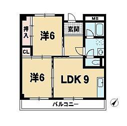 アヴァンセK・S[2階]の間取り
