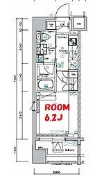 京急本線 黄金町駅 徒歩1分の賃貸マンション 9階1Kの間取り