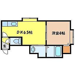 北海道札幌市北区北二十八条西7丁目の賃貸アパートの間取り