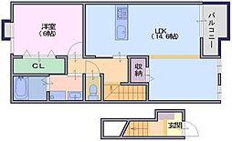 サンガーデンM3[2階]の間取り