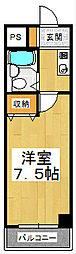 四ノ宮コート[4階]の間取り