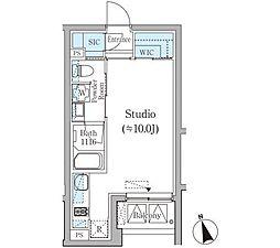 JR山手線 恵比寿駅 徒歩7分の賃貸マンション 2階ワンルームの間取り