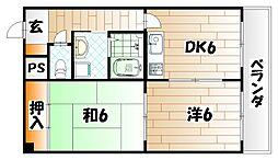 東大谷スカイハイツ[3階]の間取り