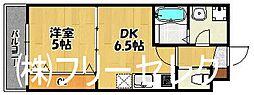 福岡県福岡市南区那の川1丁目の賃貸アパートの間取り