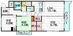 ウエルメゾン江坂[3階]の間取り