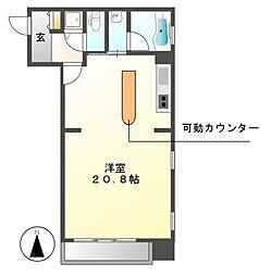 泉アパートメント[7階]の間取り