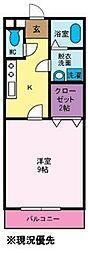 メゾンドボヌール[1階]の間取り