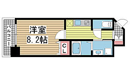 ピアグレース神戸[907号室]の間取り