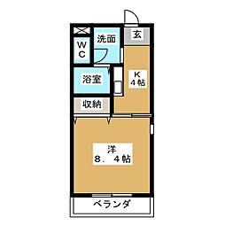 サンシャインガーデンA[2階]の間取り